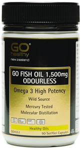 Go fish oil 1 500mg odourless capsules 90 health delivery for Fish oil 500mg