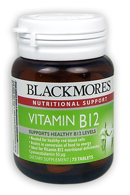 Blackmores Vitamin B12 Tablets 50mcg 75 - Health Delivery