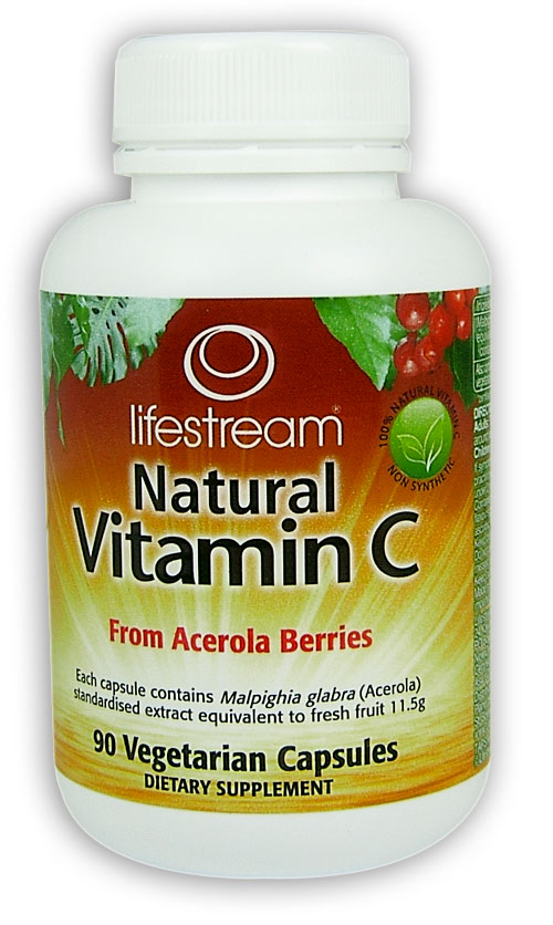 Lifestream Natural Vitamin C Capsules 90 Health Delivery