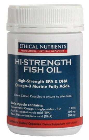 Ethical nutrients hi strength fish oil capsules 120 for Fish oil good or bad